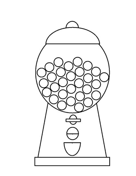bubble gum machine coloring page gumball machine colouring