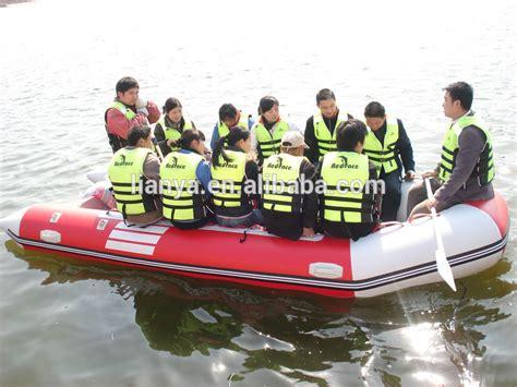 opvouwbare rubberboot met motor hete verkoop liya reddingsboot 6 personen opvouwbare