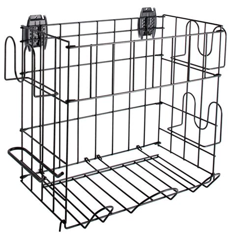 grid sports rack and basket in garage grid accessories