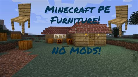 Minecraft Pe Furniture Mod by Minecraft Pe Furniture No Mods