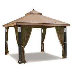 How To Make A Gazebo Canopy by Sears Garden Oasis Lighted Gazebo Replacement Canopy