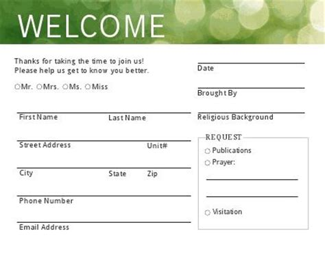 printable welcome card welcome card 2012 jpg 417 215 326 sunday pinterest