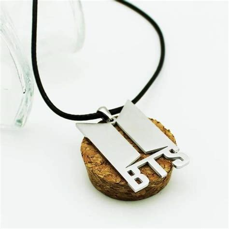bts official logo necklace bts high quality merchandise