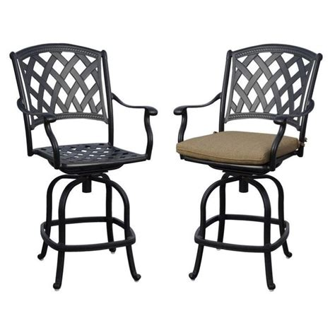 patio counter stools darlee view patio counter stool in antique bronze