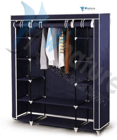 Metal Frame Wardrobe by Folding Fabric Portable Bedroom Wardrobe With Metal Frame