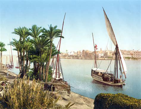 sailboat on the nile file sailboat on the nile cairo egypt ca 1895 jpg