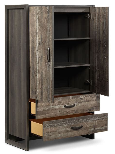 Hudson Armoire by Hudson Armoire Rustic Brown S