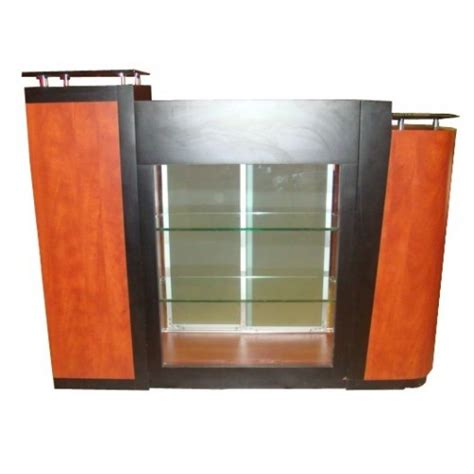 salon reception desk with glass display union rf901 reception desk with retail display