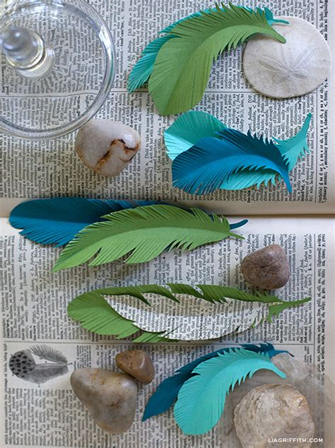 How To Make A Paper Feather - paper feather signature template lia griffith