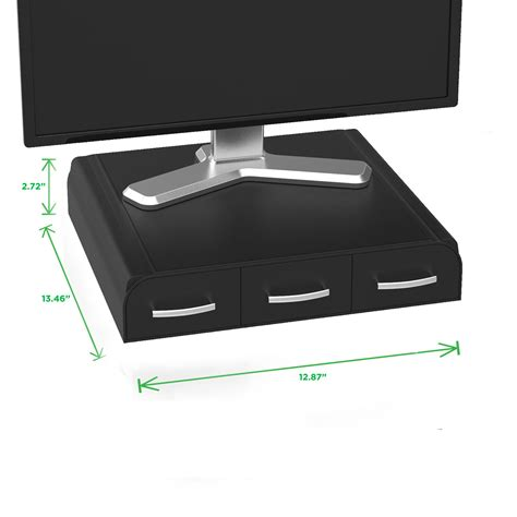 desk organizer monitor mind reader perch pc laptop imac monitor stand and desk