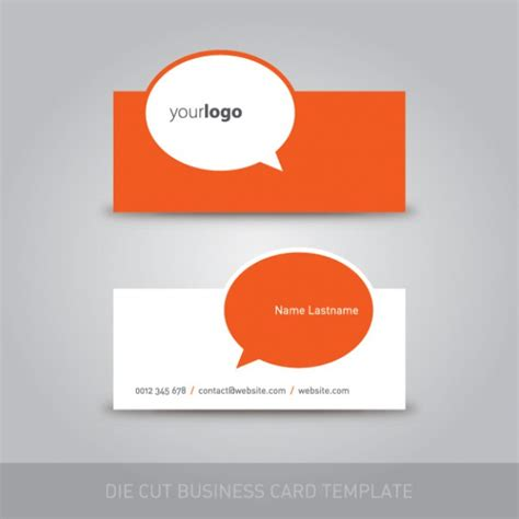 Die Cut Business Card Templates Free die cut business card template vector free