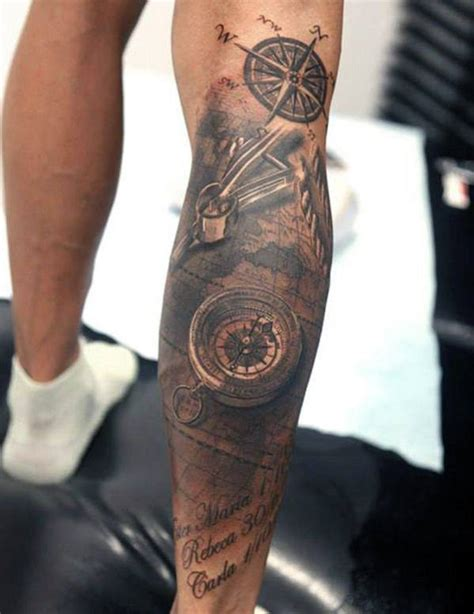 mens calf tattoos top 75 best leg tattoos for sleeve ideas and designs