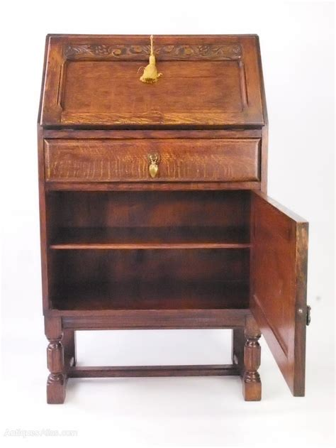 Small Antique Writing Desk Small Oak Bureau Writing Desk Antiques Atlas