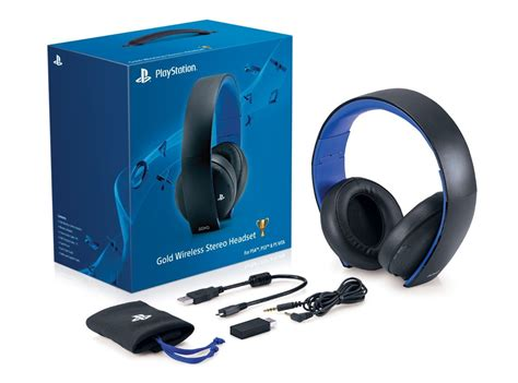 Headset Sony Ps3 new official sony gold wireless stereo headset ps4 ps3 ps vita