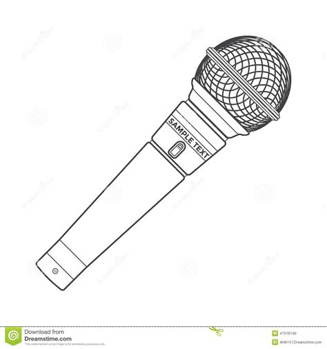 free microphone and sound coloring pages