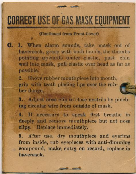 printable gas mask label gas mask instructions back in memory of robert e schalles