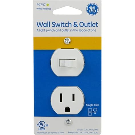 ge wall switch outlet single pole white jasco