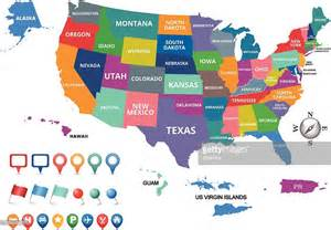 map united states with states united states of america map vector getty images
