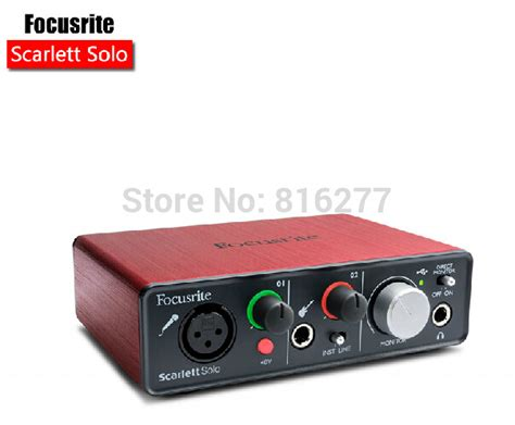 Usb Sound Card Gitar Focusrite 2 Input 2 Output Usb Audio