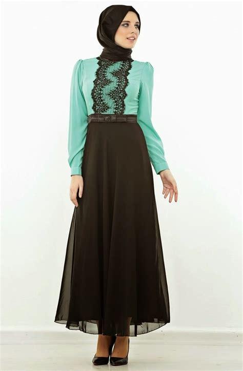 contoh desain baju gamis wanita 20 contoh model baju muslim abaya terkini dan terpopuler