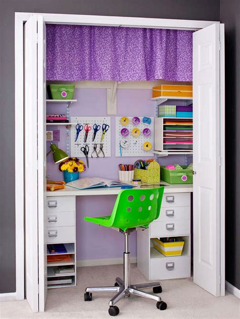 craft room in a closet office organization ideas the country chic cottage