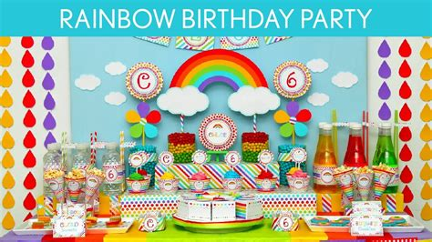 rainbows and sparkles birthday party ideas birthdays rainbow birthday party ideas rainbow b41 youtube