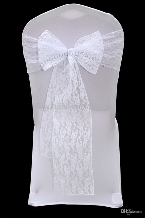 Lace Chair Sashes by Top Quality White Lace Chair Sash For Wedding Event