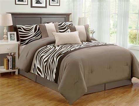 7 Pieces Comforter Set Bed Bag Oversize Zebra Animal Safari Bedding