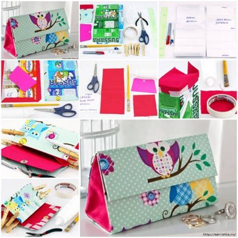 How To Make Handmade Bags Step By Step - how to make milk boxes designer clutch handbags diy