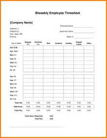 weekly time sheets template 5 biweekly timesheet template mileage tracker form