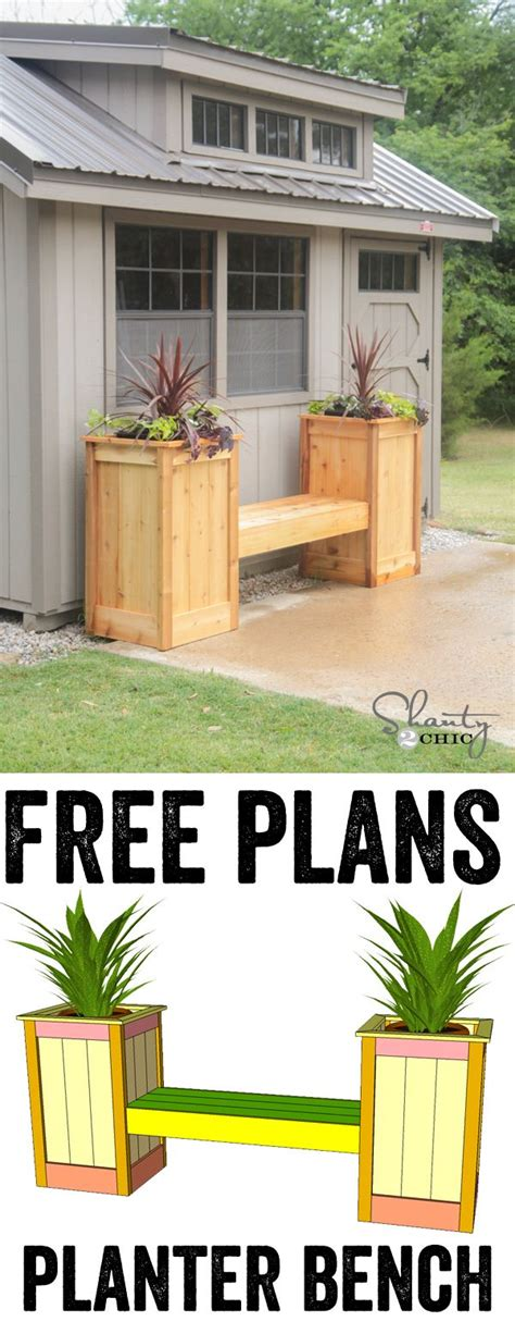 planter bench plans free planter box bench plans free woodworking projects plans
