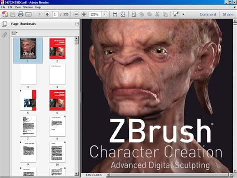 tutorial zbrush pdf zbrush character creation ebook file software software