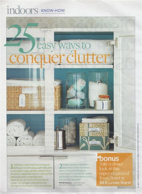 Pinterest De Cluttering Ideas | bhg 25 tips to declutter organization ideas pinterest