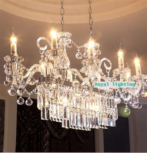 Restaurant Chandelier Rectangle Large Led Candle Chandelier Lighting For Dining Room Restaurant Big Led