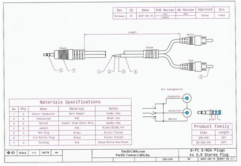 how to make a rca to aux cable wiring diagrams wiring