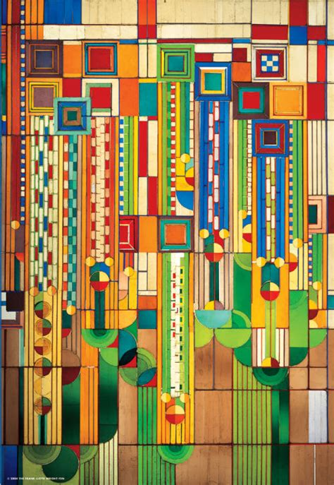 Frank Lloyd Wright Style Homes frank lloyd wright saguaro glass design jigsaw puzzle