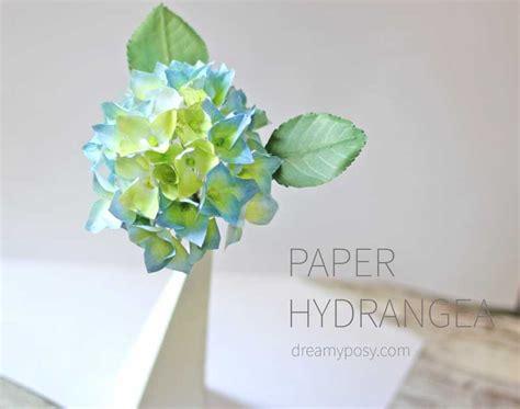 Hydrangea Paper Flower Bloombox paper hydrangea tutorial and template3 dreamyposy