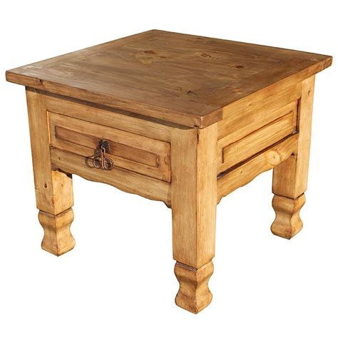 Pine End Tables Rustic Pine Collection Keko End Table Lat06