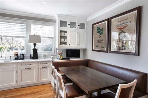 Kitchen Wall Booth Novenstein Transitional Kitchen