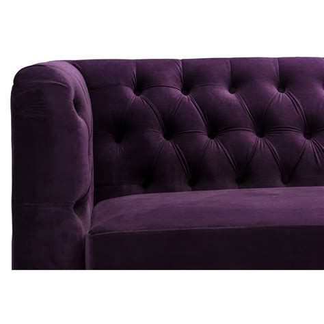 purple tufted couch purple velvet tufted sofa modern furniture brickell