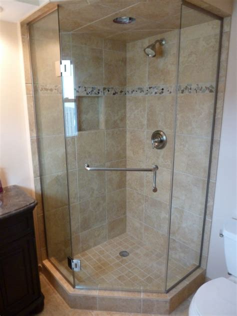 Neo Angle Shower Door Bgs Glass Services Llc Waukesha Wisconsin