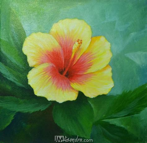 acrylic painting lessons flowers acrylic painting lesson gumamela flower by jmlisondra