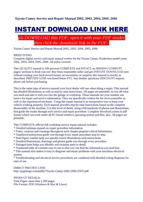 service and repair manuals 2002 toyota camry head up display toyota camry service and repair manual 2002 2003 2004 2005 2006 by kas bilag issuu