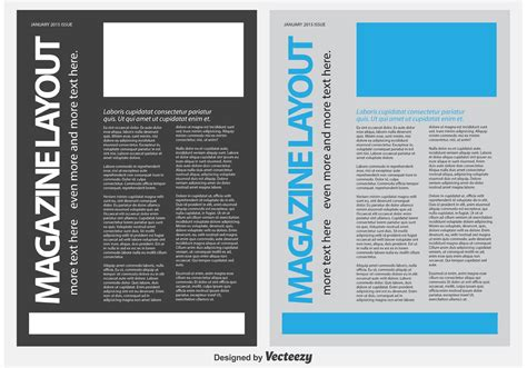 Memo Template Vector magazine news letter template free vector
