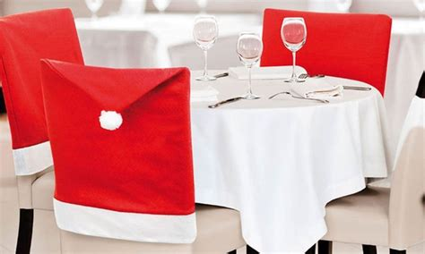 santa hat dining chair covers groupon goods