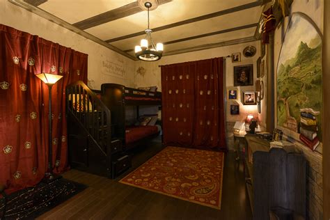 gryffindor themed bedroom the ever after estate orlando vacation home harry