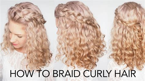 braid curly hair  top tips  quick  easy tutorial youtube