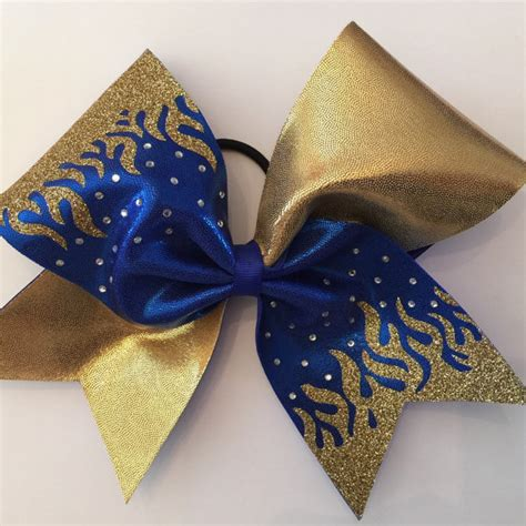 and gold bows cheerleading bows blue and gold www imgkid the