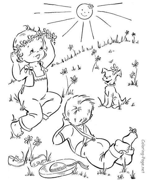 coloring pages spring nature spring coloring pages nature little boys free printable