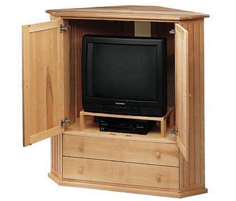 Tv Storage Cabinet With Doors Wood Corner Tv Cabinet Plans How To Build An Easy Diy Woodworking Projects